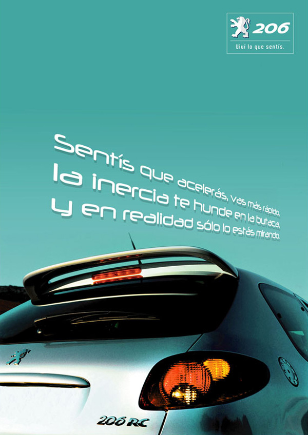 Press Ad for Peugeot 206 | Green